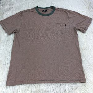 OBEY Striped Crew Neck Pocket T-Shirt